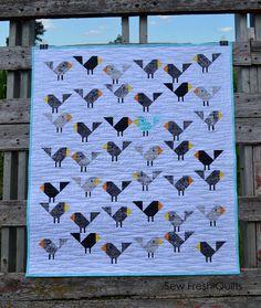Sew Fresh Quilts: Black Birds in Blue {redo}