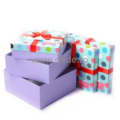 Set 3 cutii de cadou cu buline multicolore-big Container, Dots, Gift Wrapping, Stitches, Gift Wrapping Paper, Wrapping Gifts, Gift Packaging