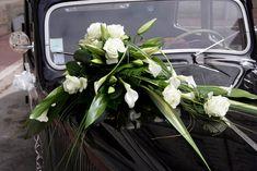 Décoration florale mariage voiture
