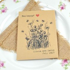 WildWildflower seed packet wedding favours | Recycled wedding favours
