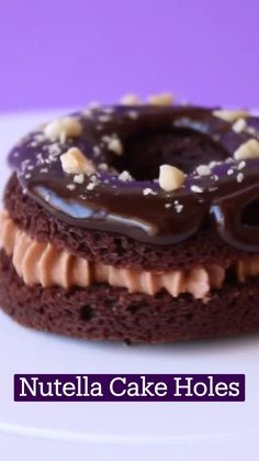 Fun Baking Recipes, Sweet Recipes, Cookie Recipes, Dessert Recipes, Chocolate Desert Recipes, Chocolate Deserts, Delicious Desserts, Yummy Food, Nutella Cake