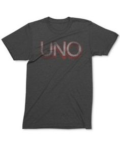 Mighty Fine Men's Uno Logo Graphic-Print T-Shirt - Gray XL