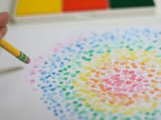 Sweet, easy and pretty! Great kid art project.   Pencil Stamps!