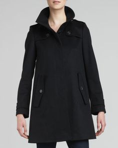 Single-Breasted Swing Coat by Burberry London at Neiman Marcus.