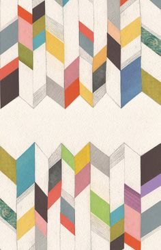 Loving the color-blocking in this chevron print by Marco Cibola.
