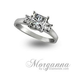 Take center stage with our Morganna engagement ring! This ring features 3 princess-cut stones with crossing prongs. For the next week ONLY this ring is $760.00 plus FREE shipping! To order our Morganna ring call 1-800-682-0581 or visit http://www.lab-diamonds.com/morganna-lab-created-engagement-ring.html