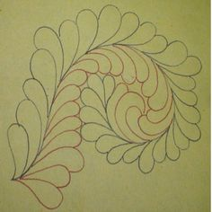 how to quilt feathers by Ivory Spring