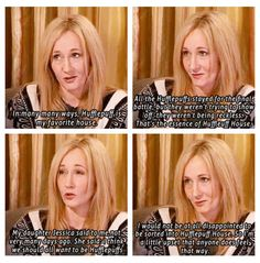 """"""":) It always make me mad when people are mean about Hufflepuffs."""" Me, too! (And I am not even in Hufflepuff.) Remember what JKR said every time you hate on Hufflepuff."""