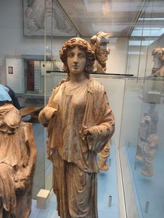 British museum - rare roman terracotta statue. Due to their fragility very few of these have survived and these examples are quite large in size.