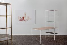 """""""Fien Muller and Hannes Van Severen. These two creatives, a photographer and an artist, have put heads together to create a furniture collection under the name Muller Van Severen. The result? Simple storage containers, tables, shelves and lights that call the work of Donald Judd and Bauhaus. Pure forms which embrace opulent ornament in their finish and combination."""""""