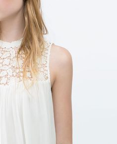 Image 4 of COMBINED GUIPURE LACE TOP from Zara