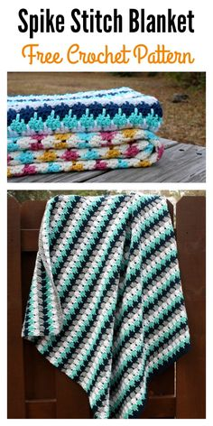Crochet Spike Stitch Blanket Free Pattern