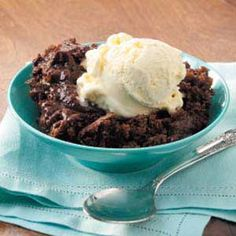 Slow Cooker Hot Fudge Cake - I like that it is from scratch and not a box.