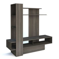 Amazon.com: Trasman 4011 Contemporary Sky TV Wall Unit, Gray Anthracite: Kitchen & Dining