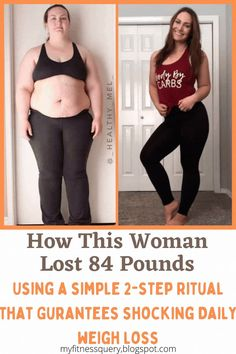 How this woman lost 84 pounds using a simple 2-step Ritual that guarantees shocking Daily Weigh Loss Loose Weight Without Exercise, Loose Weight Fast, Fast Weight Loss Tips, Lose Weight In A Week, Weight Loss For Women, Weight Loss Program, Planet Fitness, Best Weight Loss Supplement, Weight Loss Supplements