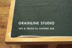 Cutting silk