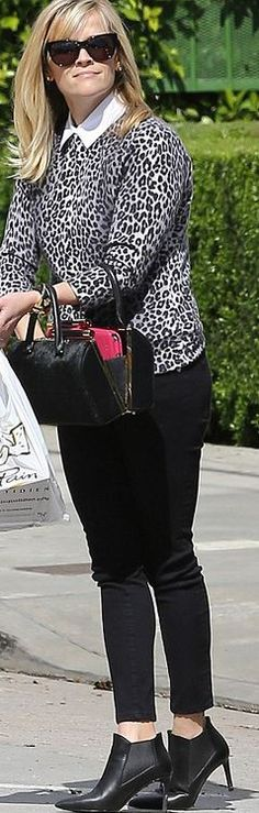 Reese Witherspoon: Sweater – Talbots Shoes – Saint Laurent