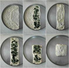 Zaatar, ένα φανταστικό επίπεδο ψωμί από την Παλαιστίνη ⋆ Cook Eat Up! Cheese Pies, Food And Drink, Plates, Vegan, Cooking, Tableware, Tarts, Pizza, Workout