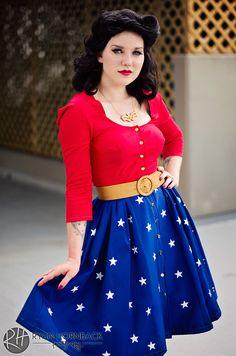 1950's style wonder women cosplay | 1950s Wonder Woman by Rattfinkphotography