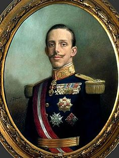 miniature of Alfonso XIII
