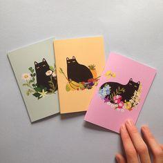 Cat de cahiers - Set de 3 cahiers de chat  Parfait pour les dessins à main levée, les listes et les griffonnages, cet ensemble de fonctionnalité de