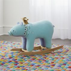 Shop Plush Rocker Bear.  Our Plush Rocker Bear will take playtime over hibernation any day.  Equipped with a soft plush seat on a sturdy poplar base, it's a perfect pick for the playroom.