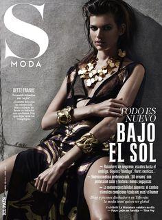 Bette Franke is a Metallic Goddess for S Moda Spread by David Roemer Fashion Magazine Cover, Fashion Cover, Magazine Covers, Bette Franke, List Of Magazines, Fashion Gone Rouge, Hot Poses, Bikini, Fashion Moda