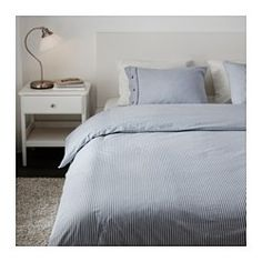 IKEA - NYPONROS, Duvet cover and pillowcase(s), Full/Queen (Double/Queen)… except overdyed with indigo
