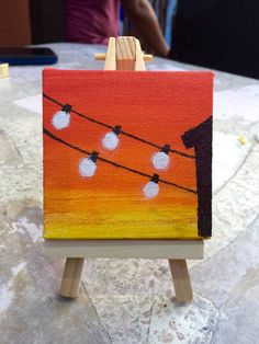Small Canvas Paintings, Easy Canvas Art, Small Canvas Art, Cute Paintings, Easy Canvas Painting, Mini Canvas Art, Diy Canvas, Diy Painting, Mini Tela