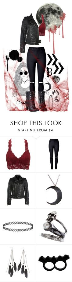 """""""Santa Carla Vampire"""" by galaxygirl12427 ❤ liked on Polyvore featuring Charlotte Russe, Marc by Marc Jacobs, Kill Star, Miss Selfridge, L'Artisan Créateur and West Coast Jewelry"""