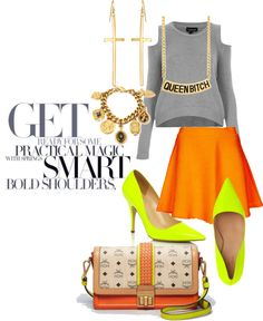 """""""Neon Orange 2013"""" by monaels ❤ liked on Polyvore"""