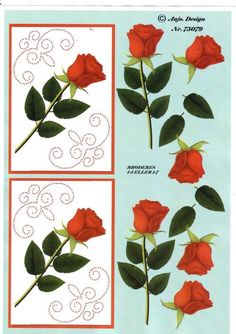 MODELE CARTE A BRODER 3d Cards, Cute Cards, Image 3d, D Flowers, Wire Jewelry Designs, Embroidery Cards, Sewing Cards, Parchment Craft, 3d Prints