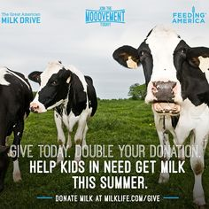 Give today to the #milkdrive!!! #ad