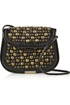 Tamara Mellon Treasure studded leather shoulder bag | NET-A-PORTER