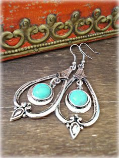 Tibetan Earrings / Boho Earrings / Boho Jewelry by HandcraftedYoga, $17.00