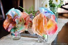 Kid Craft: Coffee Filter Flowers | Scattered Thoughts of a Crafty Mom