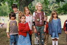 Jesse Aarons, Leslie Burke, Maybelle Aarons, and others from Bridge to Terabithia