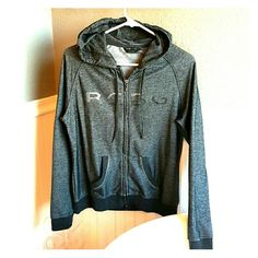 """BCBG MAXAZRIA front zip sweatshirt /hoodie. NWOT BCBG MAXAZRIA front zip sweatshirt /hoodie. NWOT never worn. Tried on very comfy and great color black/white marled look. Emblem BCBG on front in spelled out with tiny """"jewels/diamond looking"""" with same jewels decorating the seam of the hood and pocket area. All jewels are in tact, with color variation of the jewels (bright """"diamond"""" looking jewels, a chrome looking jewel, and black jewel faded into eachother) BCBGMaxAzria Tops Sweatshirts…"""