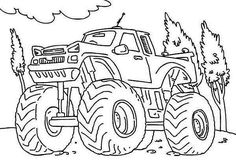 Monster Truck Iron Outlaw Coloring Page - Download & Print Online ...