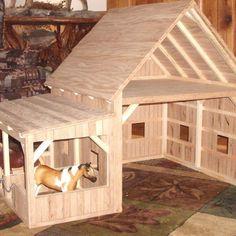 Custom Made Wooden Toy Barn #7