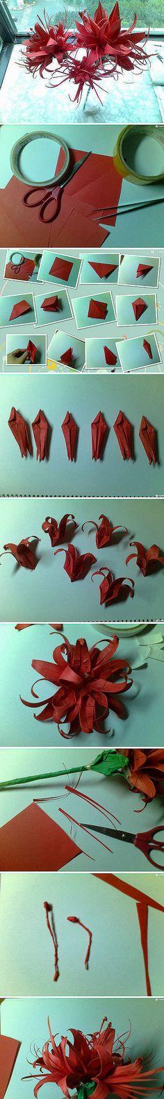 Origami DIY handmade paper art origami tutorial Bana, beautiful, right, moving hands to ~