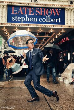 "Stephen Colbert on 10 Weeks at the Top, Trump and Why He ""Would Trade Good Ratings for a Better President"" Jon Stewart Stephen Colbert, Jon Batiste, Late Night Show, Top Trumps, You Make Me Laugh, The Hollywood Reporter, Ubs, Saturday Night Live, My Spirit Animal"