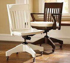 Genial Swivel Desk Chair Cushion, Brushed Canvas Ivory Pottery Barn Desk, Leather Office  Chairs,