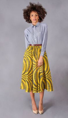 Are you still looking for a perfect style for your African print skirt? African Print Skirt, African Print Dresses, African Dresses For Women, African Attire, African Wear, African Women, African Prints, African Print Clothing, African Style