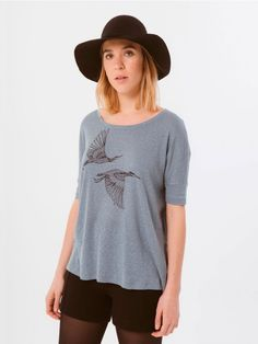 Grulla Blue T-Shirt // It is sometimes hard to find a T-shirt that meets the two…