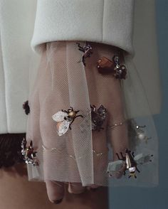 Inspiration // Embellished tulle cuffs // Christian Dior