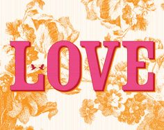 Vintage inspired Floral Love art print by theIrisandtheBee on Etsy, $20.00
