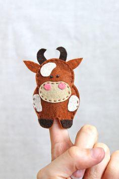Felt finger puppets McDonald's farm pack of por MiracleInspiration