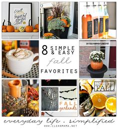 Looking for a handful of simple and easy fall favorites for the season?  You'll love this!