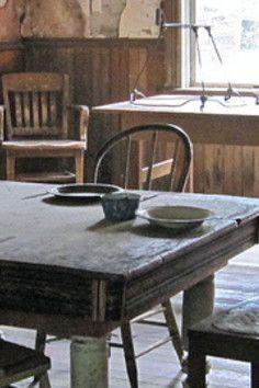 Garnet Ghost Town, an old historic mining town  Missoula, Montana